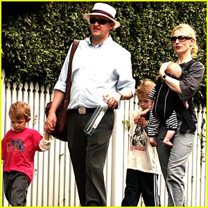 Cate Blanchett Takes A Family Walk