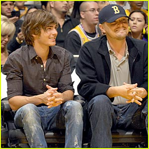 Leonardo DiCaprio & Zac Efron: Let's Go Lakers!