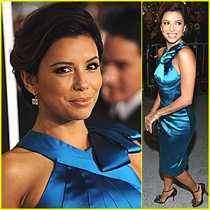Eva Longoria is Brilliant in Blue for Benjamin Button