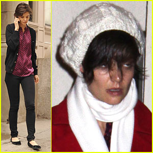 Katie Holmes Looks Beanie Beat