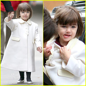 Suri Cruise is White Coat Cute
