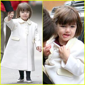 Suri Cruise is White Coat Cute