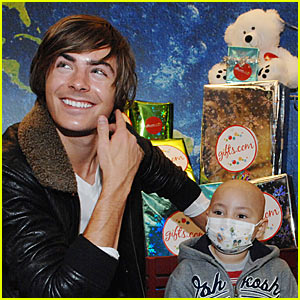 Zac Efron Gifts Mattel Children's Hospital