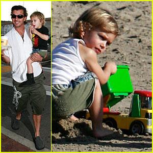 Kingston Rossdale's Father-Son Beach Bonding