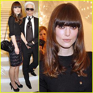 Keira Knightley & Karl Lagerfeld: Chanel Show-Offs
