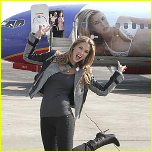 Bar Refaeli Pictured On Plane -- SI One!