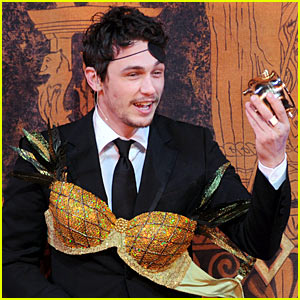 James Franco Wears Pineapple Bra