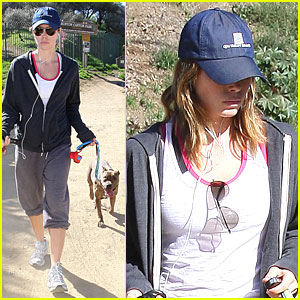 Jessica Biel Puts Her Puppies Out
