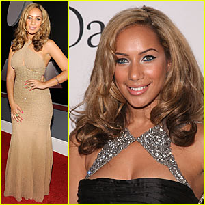 Leona Lewis hits the red carpet in a nude Randi Rahm creation at the 2009 ...