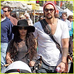 Jason Momoa & Lisa Bonet: Farmers Market Fresh