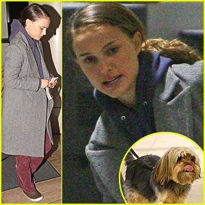 Natalie Portman Smooches Her Pooch