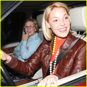 Katherine Heigl is Trapped In Traffic