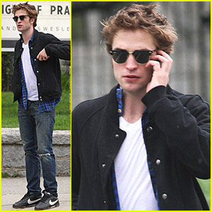 Robert Pattinson: Cell Phone Walk And Talk