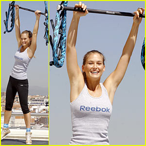 Bar Refaeli Attends Trapeze School