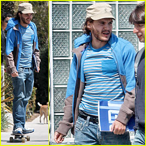 Emile Hirsch Skateboards His Way To Cannes