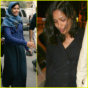 Freida Pinto is Tel Aviv Timid