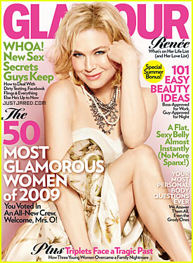 Renee Zellweger Covers 'Glamour' June 2009