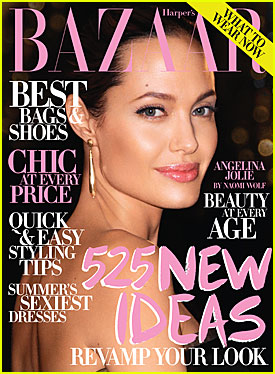 Angelina Jolie Covers Harper's Bazaar July 2009