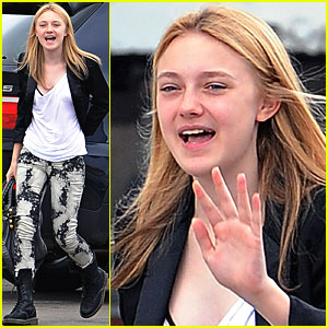 Dakota Fanning is Tie-Dyed Terrific