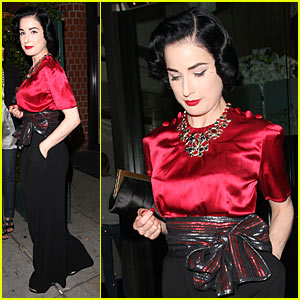 Dita Von Teese Chomps Down At Mr. Chow's