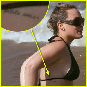 Hilary Duff's Side Tattoo: Ma Petite Amie!