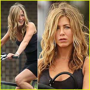 Jennifer Aniston is a Biking Bounty Hunter