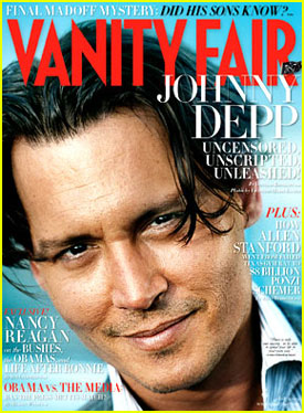 Johnny Depp Covers Vanity Fair July 2009