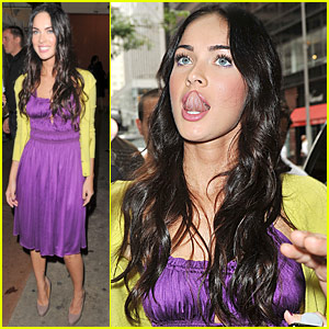 Megan Fox Gets Tongue Tied
