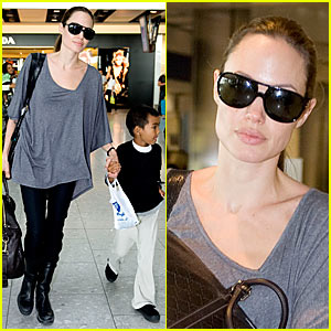 Angelina Jolie: Heathrow Hottie