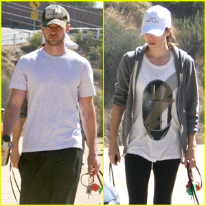 Justin Timberlake & Jessica Biel: Runyon Canyon Couple