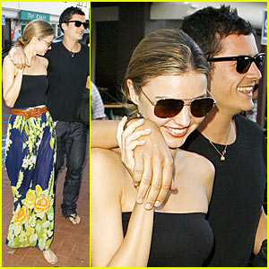 Orlando Bloom & Miranda Kerr Go Greek