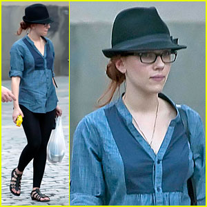 Scarlett Johansson Goes Tapas in Madrid