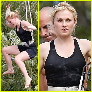 Anna Paquin & Stephen Moyer Are Agile Acrobats