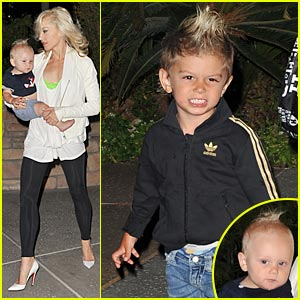 Gwen Stefani: P.F. Changs Bistro With Her Boys