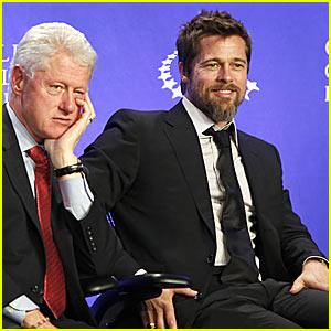 Brad Pitt Makes It Right At Clinton Global Initiative