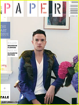 Brandon Flowers Covers Paper Magazine