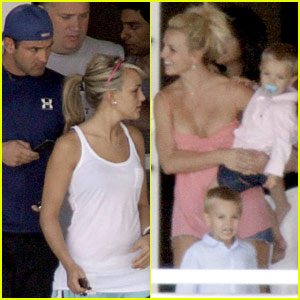 Britney Spears and Her Balcony Babies