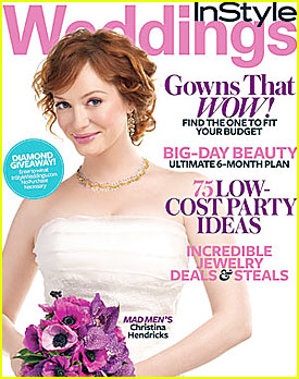 Christina Hendricks Covers InStyle Weddings