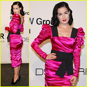 Dita Von Teese Strips for amfAR