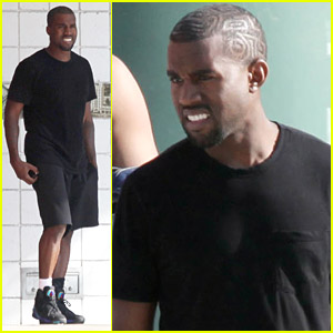Kanye West Shoots Some Hoops