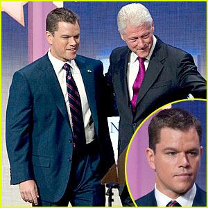 Matt Damon Gets Clinton Global Initiative Under Way