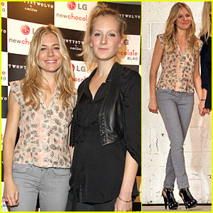 Sienna Miller: Twenty8Twelve at London Fashion Week!