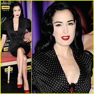 Dita Von Teese's Wonderbra Is Sexy In Spain