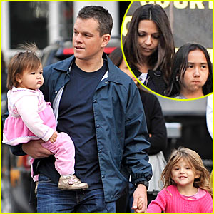 Matt Damon: Adjustment Bureau Family Fun Day!