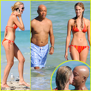 Russell Simmons Sucks Face with Julie Henderson