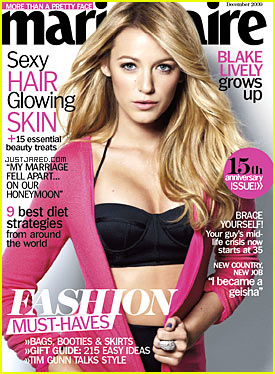 Blake Lively Covers 'Marie Claire' December 2009