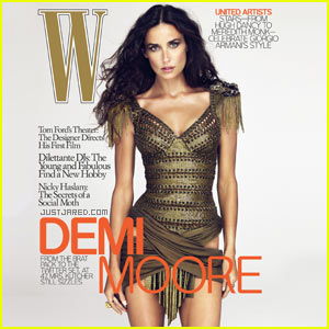 Demi Moore Covers 'W Magazine' December 2009