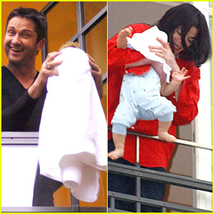 Gerard Butler Hangs Baby Outside Window À La Michael Jackson