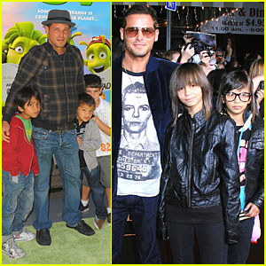 Justin Chambers Brings His Kids to Movie Premieres