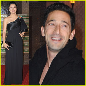 Salma Hayek & Adrien Brody Make It To Morocco